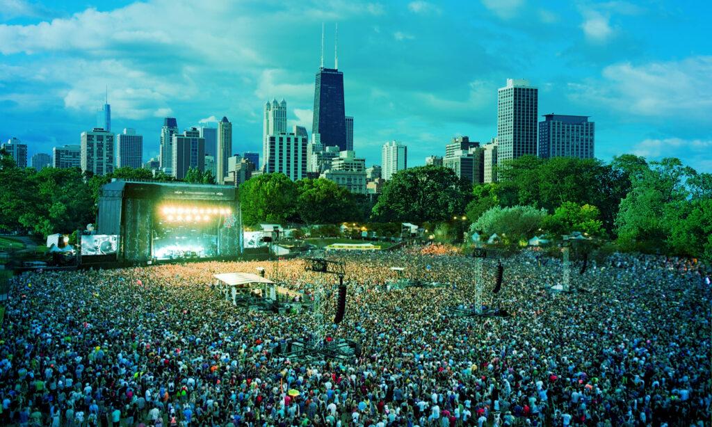 Лоллапалуза в Грант Парке в Чикаго